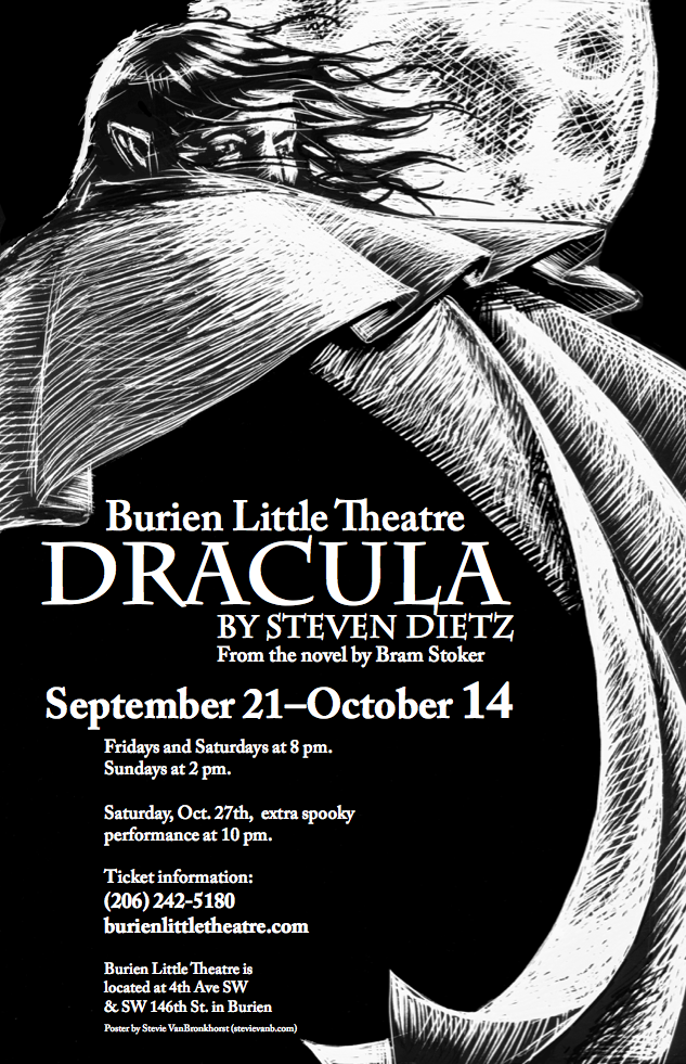 Backstage Actors Theatre poster for Dracula, 2007