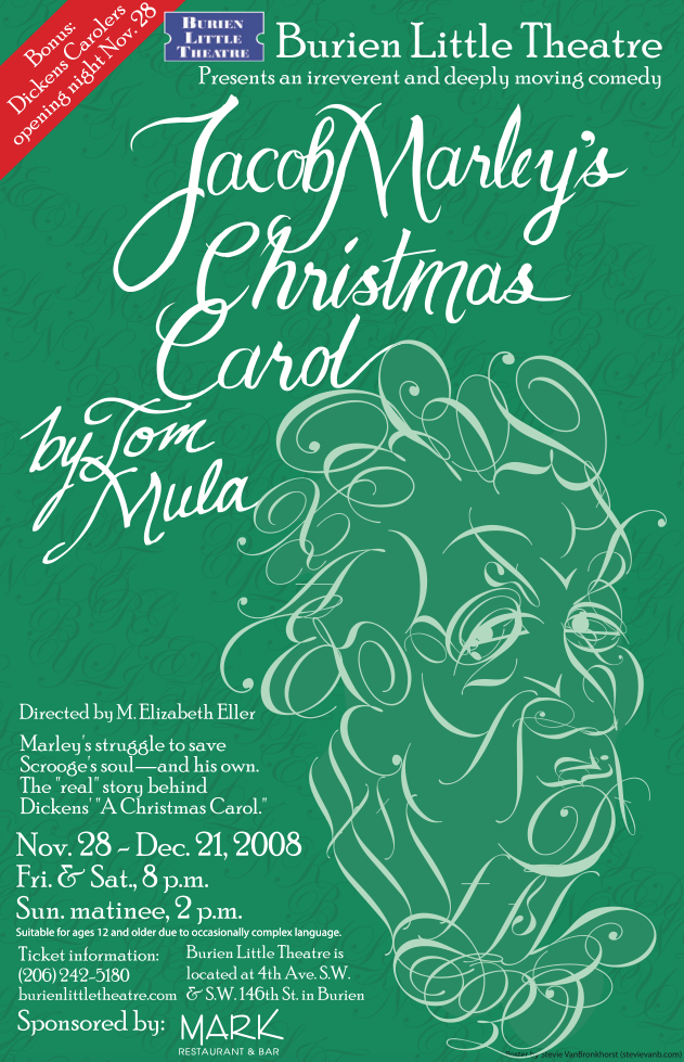 Backstage Actors Theatre poster for Jacob Marley's Christmas Carol, 2008