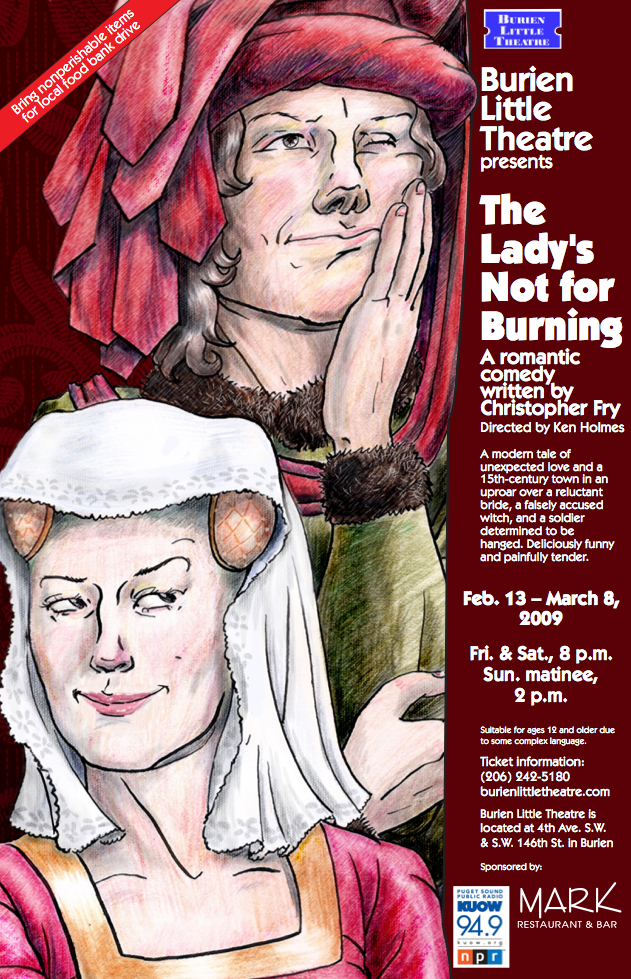 Backstage Actors Theatre poster for The Lady's Not for Burning, 2009