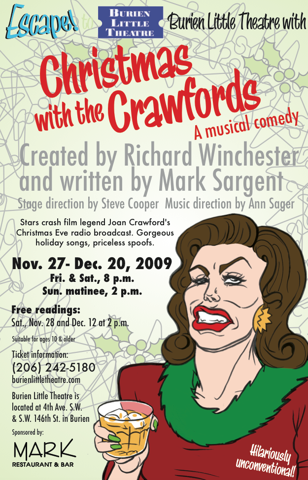 Backstage Actors Theatre poster for Christmas with the Crawfords, 2009