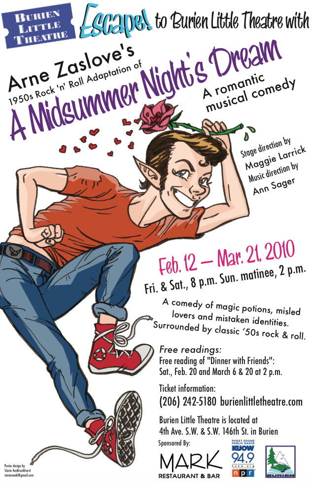 Backstage Actors Theatre poster for A Midsummer Night's Rockin' Eve, 2010