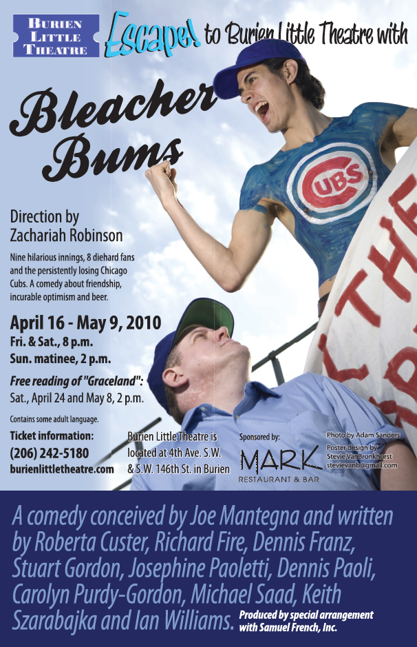 Backstage Actors Theatre poster for Bleacher Bums, 2010