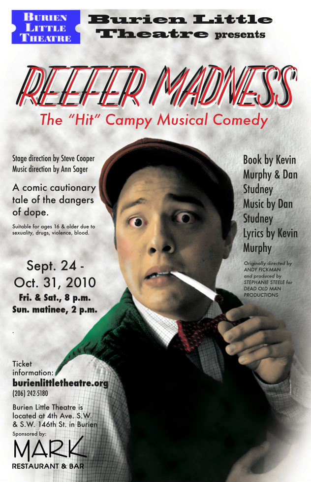 Backstage Actors Theatre poster for Reefer Madness, 2010
