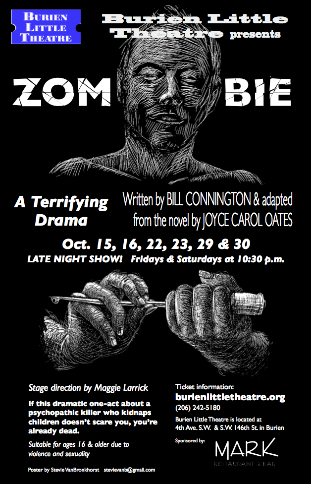 Backstage Actors Theatre poster for Zombie, 2010