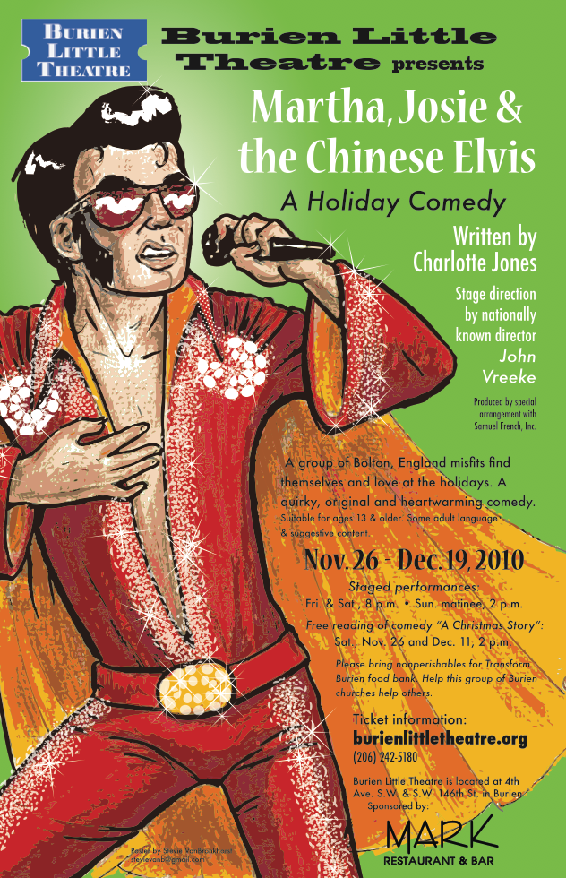Backstage Actors Theatre poster for Martha Josie and the Chinese Elvis, 2010