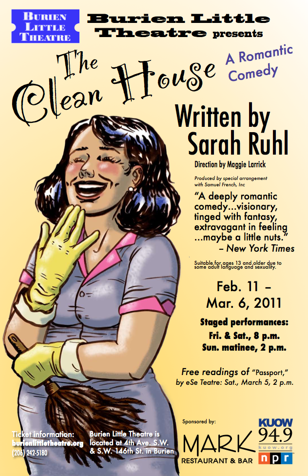 Backstage Actors Theatre poster for the Clean House, 2011