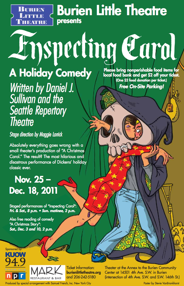 Backstage Actors Theatre poster for Inspecting Carol, 2011