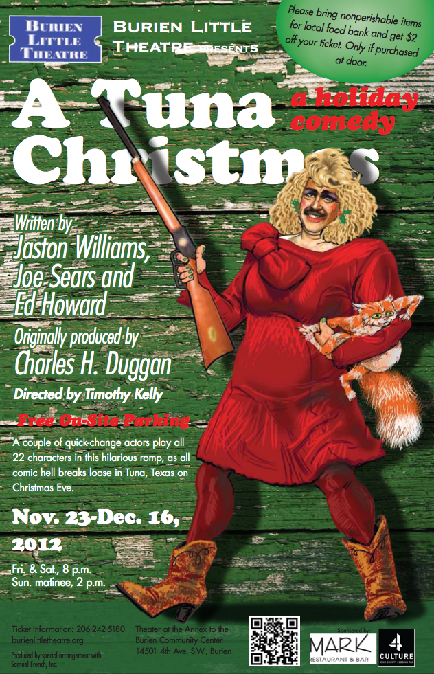 Backstage Actors Theatre poster for A Tuna Christmas, 2012