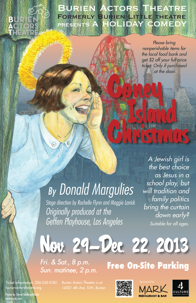 Backstage Actors Theatre poster for Coney Island Christmas, 2013