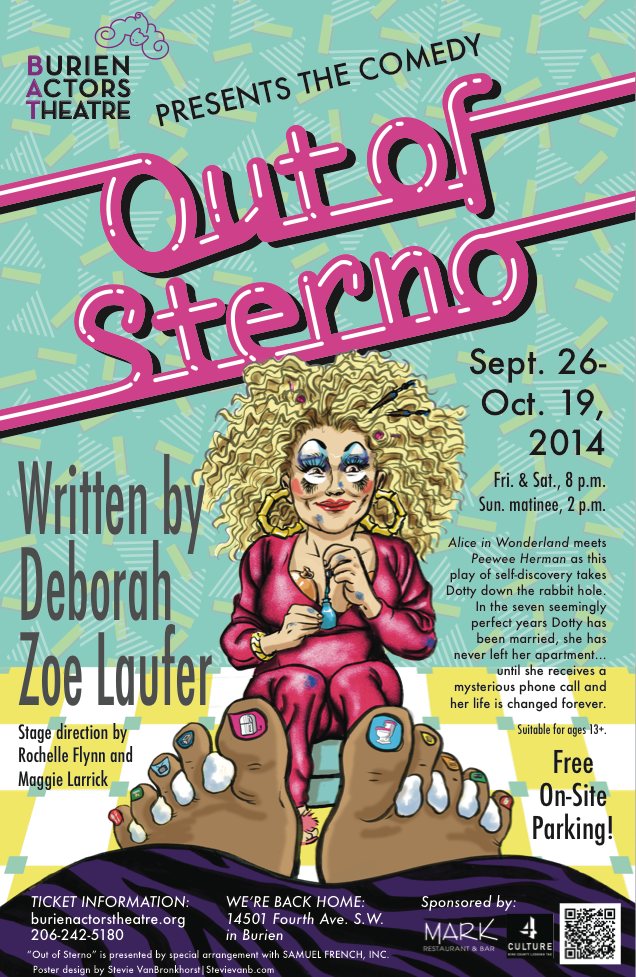 Backstage Actors Theatre poster for Out of Sterno, 2014