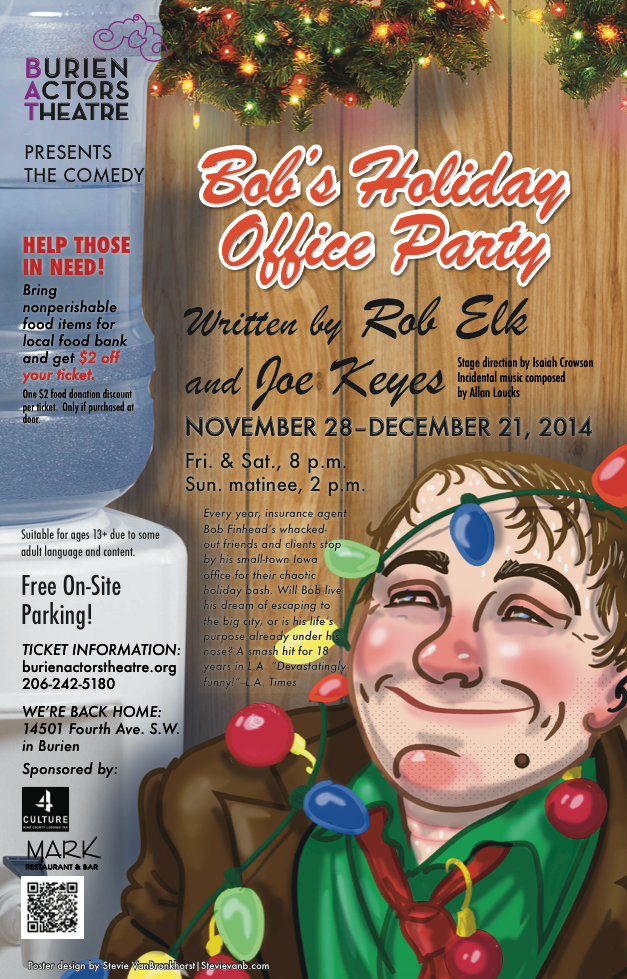 Backstage Actors Theatre poster for Bob's Holiday Office Party, 2014