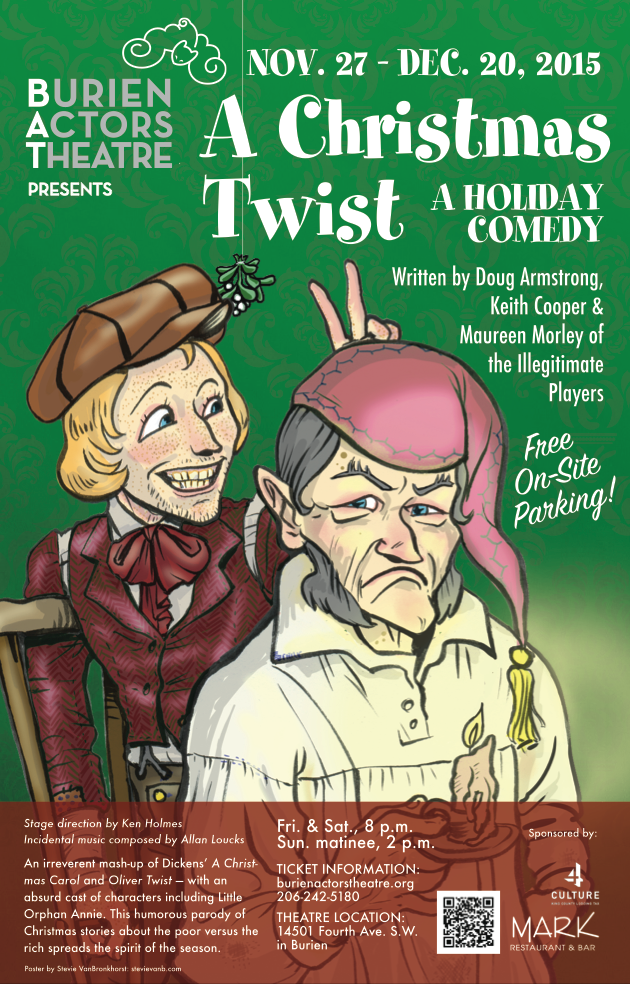 Backstage Actors Theatre poster for A Christmas Twist, 2015