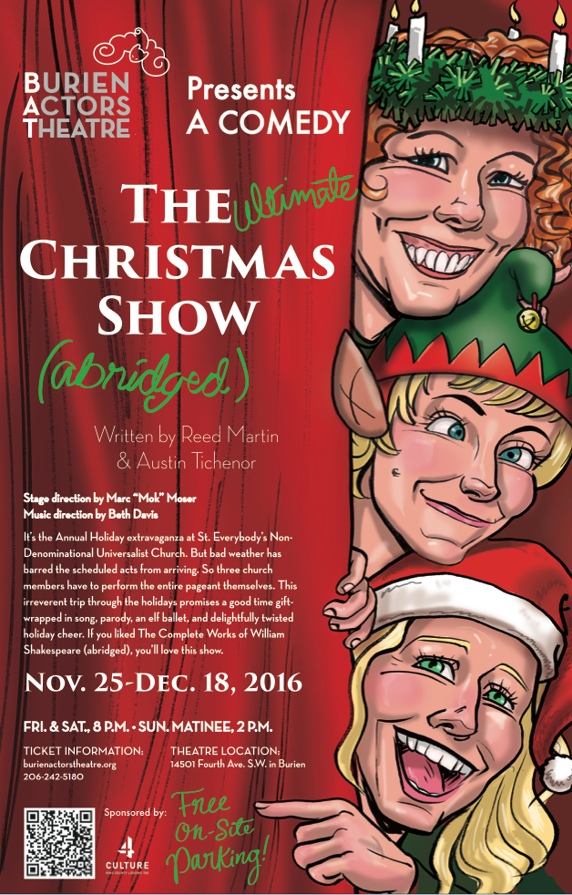 Backstage Actors Theatre poster for The Ultimate Christmas Show Abridged, 2016