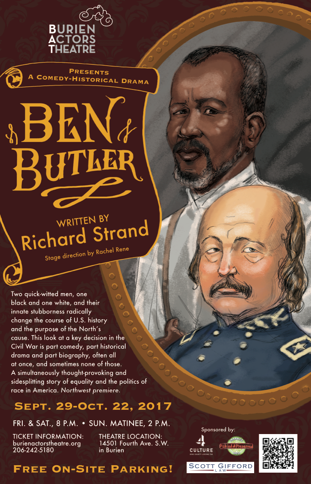 Backstage Actors Theatre poster for Ben Butler, 2017