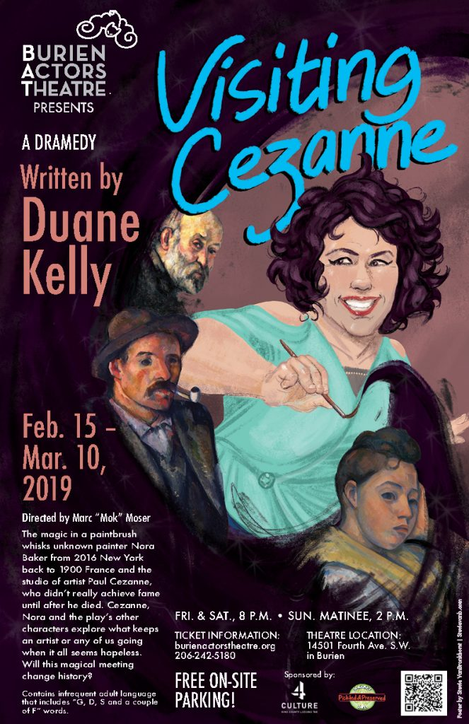 Backstage Actors Theatre poster for Visiting Cezanne, 2019