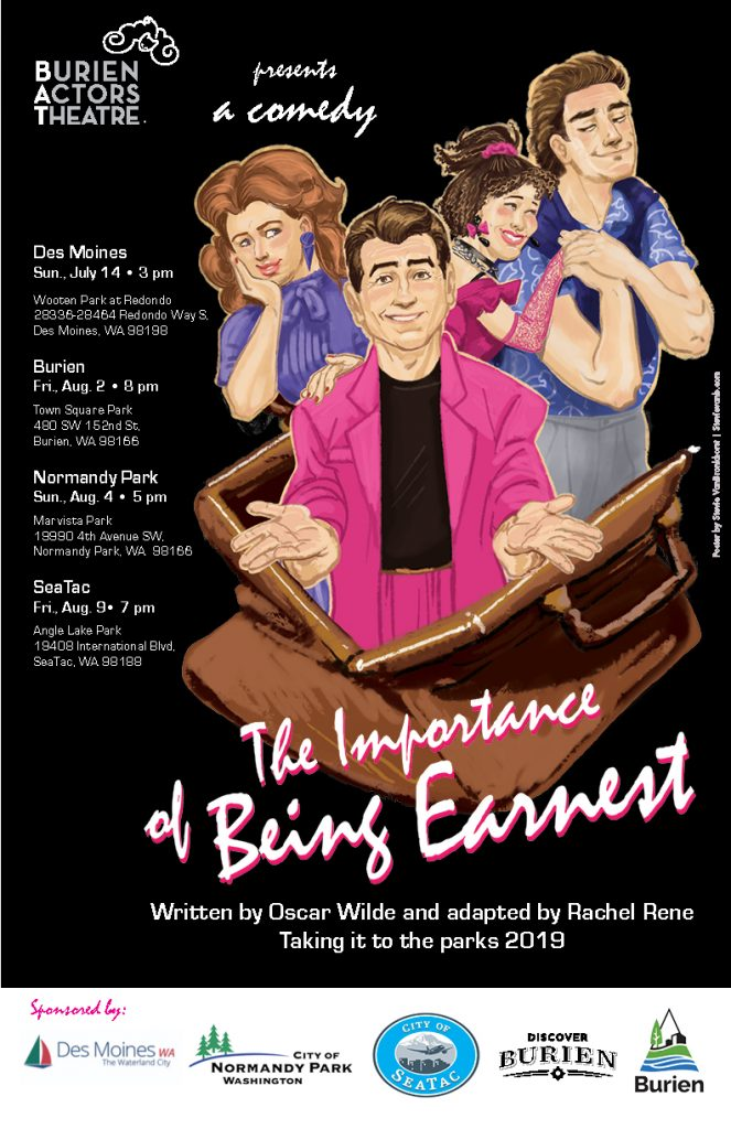Backstage Actors Theatre poster for The Importance of Being Earnest, 2019