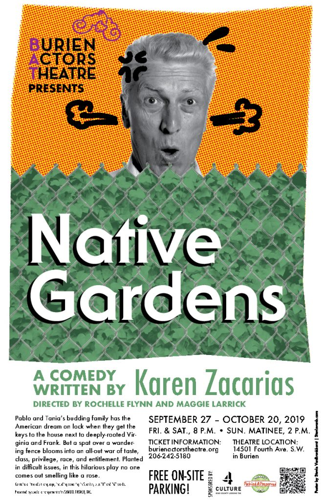 Backstage Actors Theatre poster for Native Gardens, 2019