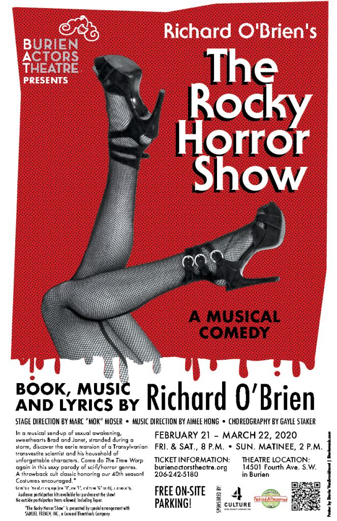 Thteatre poster for the Rocky Horror Show 2020